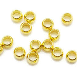 Gold Plated Brass Crimp Bead 2.5mm (500 pcs)