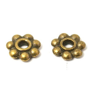 Antique Bronze Daisy Spacer 6mm (200 pcs)