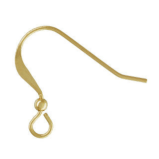 14K Gold Filled Ear Wire with Ball (10 pcs)