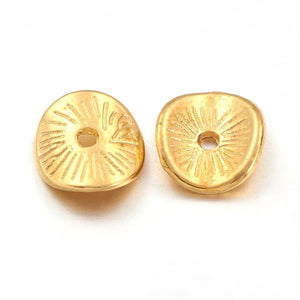 Gold Plated Curve Disc 9mm (50 pcs)