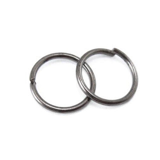 Gun Metal Open Jump Ring 6mm 18GA (200 pcs)