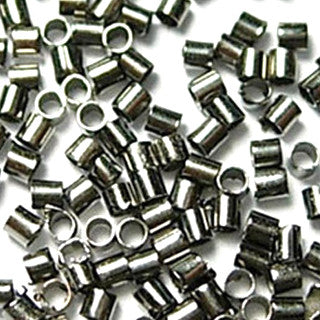 Gun Metal Brass Crimp Tube 2x2mm (500 pcs)