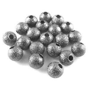 Gun Metal Stardust Round 6mm (100 pcs)