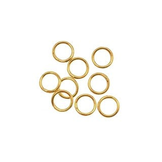 14K Gold Filled Closed Jump Ring 6mm (.025) 22GA (20 pcs)