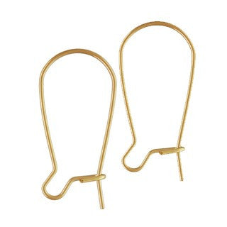 14K Gold Filled Kidney Ear Wire 24mm (6 pcs)