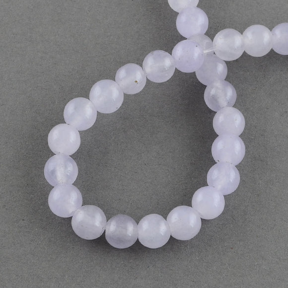 Lilac Jade Dyed Round 8mm