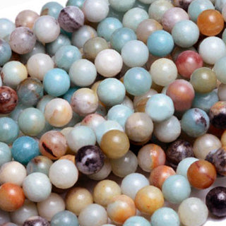 Amazonite Multi-Color Round 4mm, 6mm, 8mm, 10mm