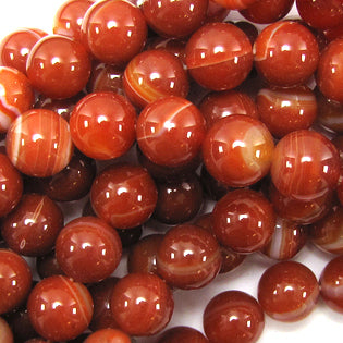 Red Stripe Agate Round 8mm
