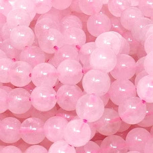 Rose Quartz Round Beads 2mm, 3mm, 4mm, 6mm, 8mm, 10mm