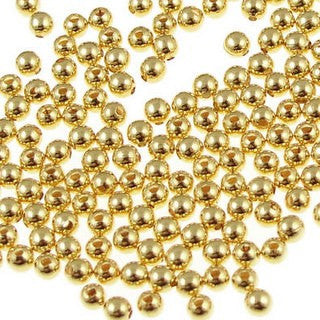 Gold Plated Brass Round 6mm (100 pcs)
