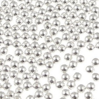 Silver Plated Brass Round 4mm (200 pcs)