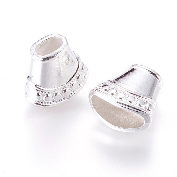 Silver Plated Cone 15x16x9mm (10 pcs)