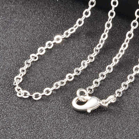 Silver Plated Brass Flat Cable Necklace 2.5mm 18