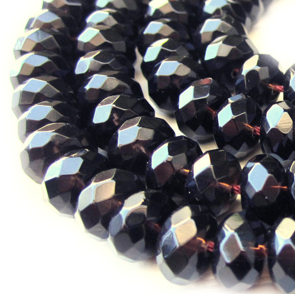 Smoky Quartz Faceted Rondelle 6mm