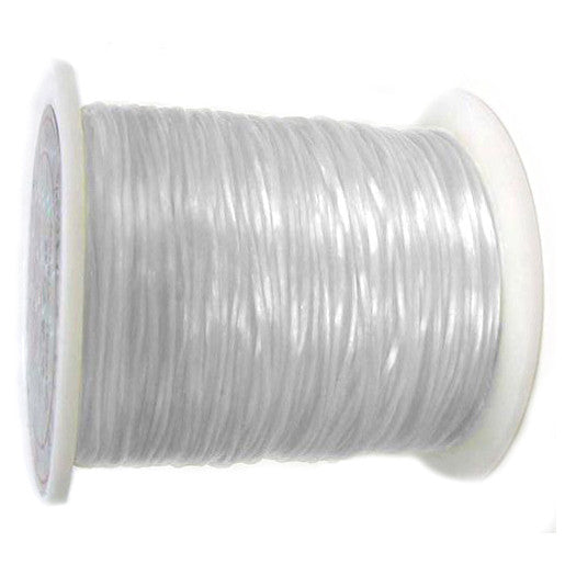 Elastic Stretchy Wire 180 ft, flat 0.8mm - White