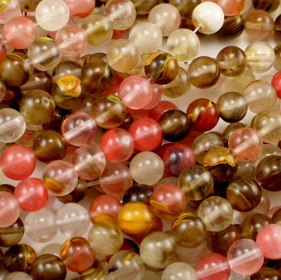Tiger Cherry Quartz Round Bead 4mm, 6mm, 8mm