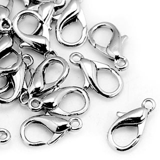 Platinum Plated Brass Trigger Clasp 5x10mm (20 sets)