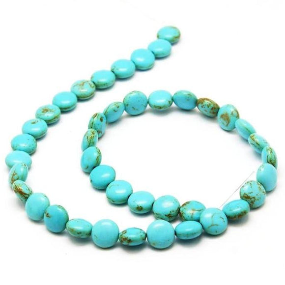Turquoise Magnesite Coin 10mm