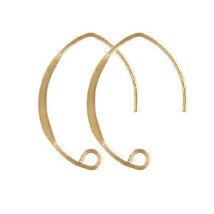 14K Gold Filled V Shape Earwire (4 pcs)