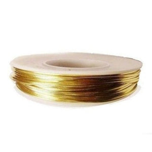 Copper Round Wire 24GA Half Hard 45ft - Gold Plated