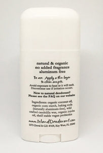 Ingredients List Original Stick Deodorant with Probiotics