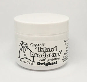 White Organic Deodorant Reusable Container