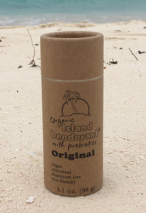 Organic Island Deodorant Original Biodegradable Container