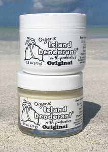 Two Original Cream Deodorant on a Beach