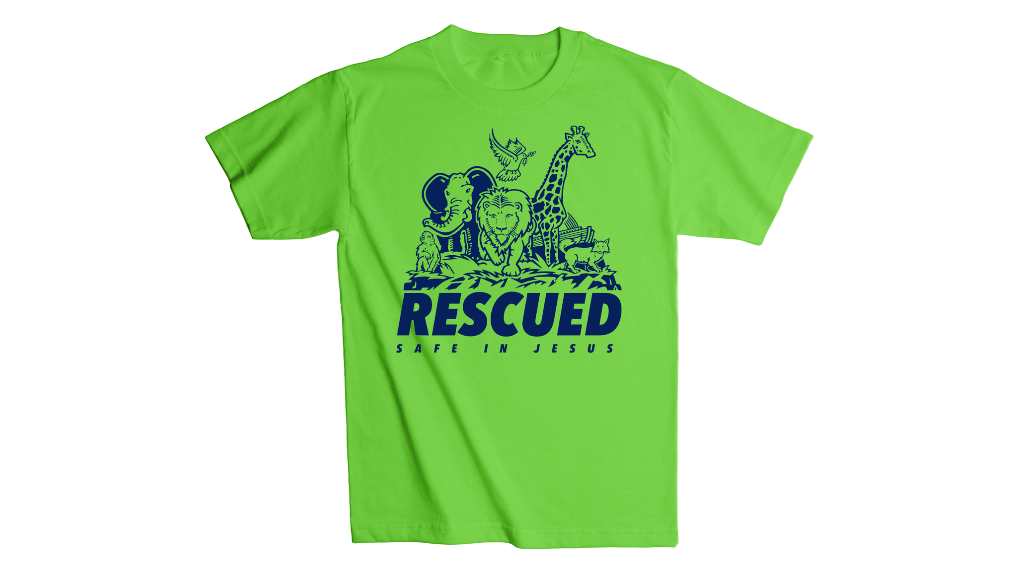 Rescued Youth T-Shirt - Bright Green