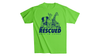 Rescued Adult T-Shirt - Bright Green