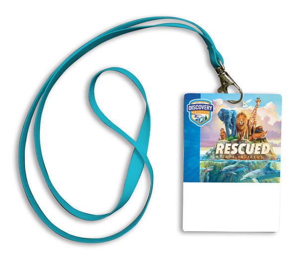 Rescued Staff Lanyard with Pouch (Pack of 10)