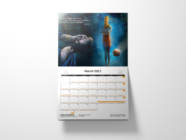 Prophecy Fulfilled Calendar 2021