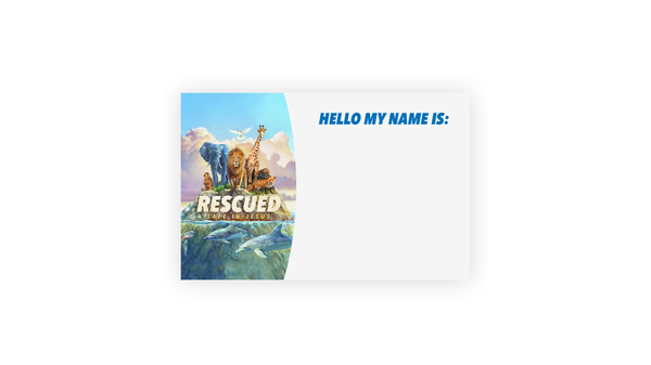 Rescued VBS Name Tag Sticker (80 stickers)