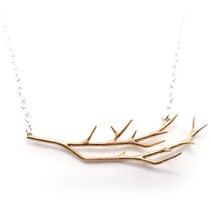 Delicate Bronze Branch Necklace