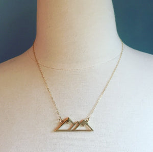 Brass Mountain Love Necklace