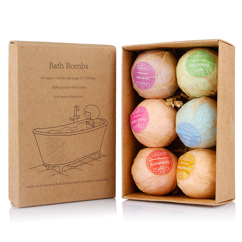 Essential Oil Bath Bomb Skin Care 6 Pack