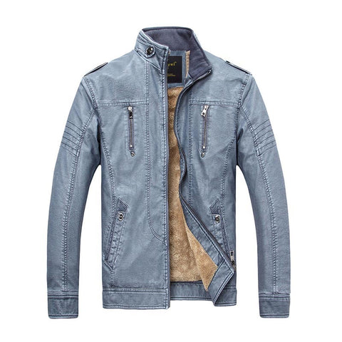 Men's Fashionable Faux Leather Casual Jacket