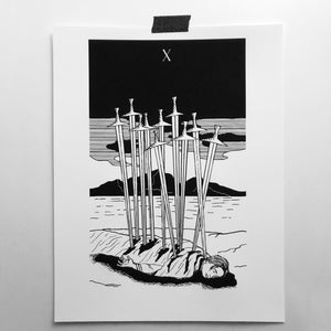 "X of Swords 8.5""x11"" Print"