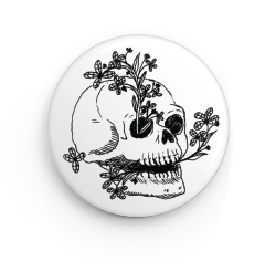 "Renewal Skull 1.25"" Button"