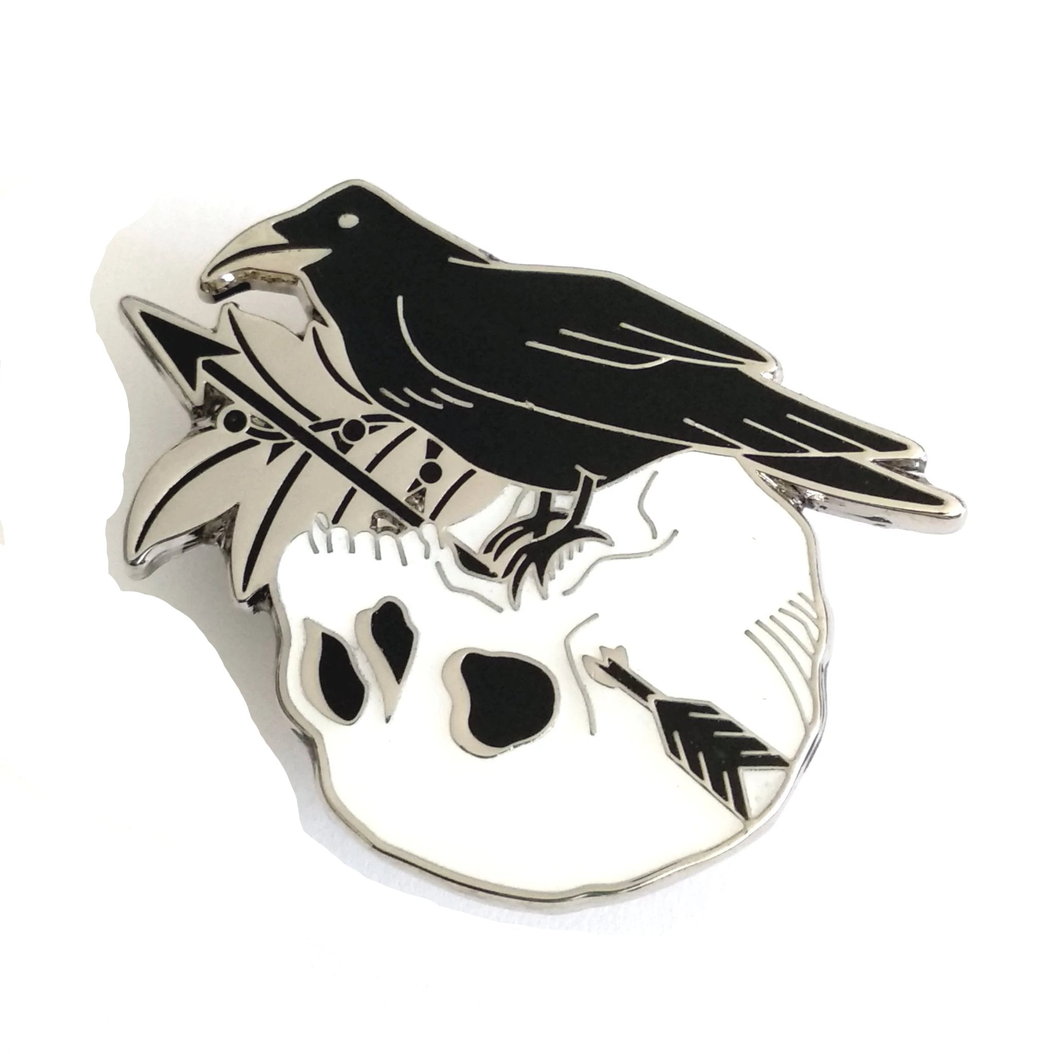 Apollo Raven & Skull Enamel Pin