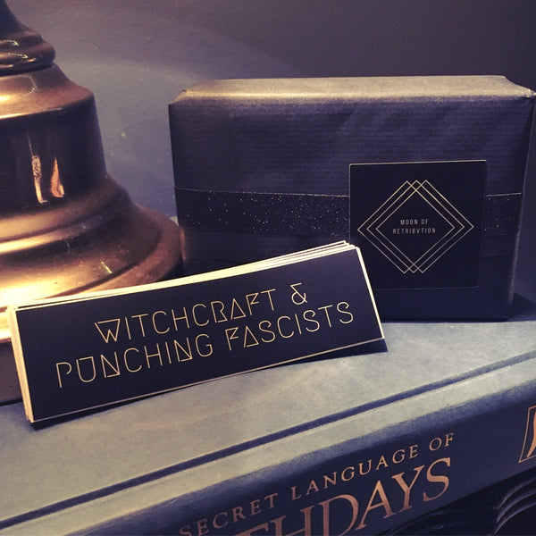 Witchcraft & Punching Fascists Vinyl Sticker