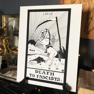 "Death To Fascists 8.5""x11"" Print"