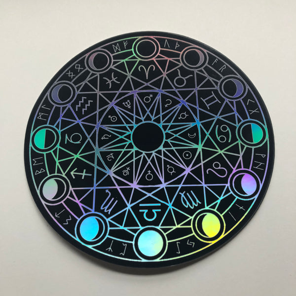 Large Holographic Magic Circle Vinyl Sticker