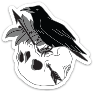 Apollo Raven & Skull Sticker