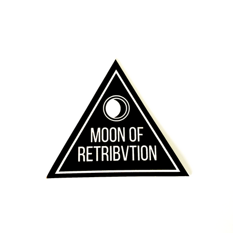 Triangle Moon Of Retribvtion Logo Sticker