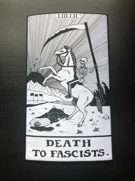 Death to Fascists Card Large Back Patch