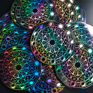 "3"" Holographic Magic Circle Vinyl Sticker"