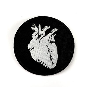 Anatomical Heart Iron-On Patch