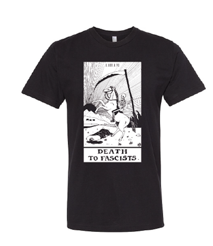 Death to Fascists Tarot Card Tee