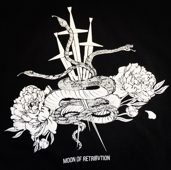 Snake, Swords, and Peonies Tee